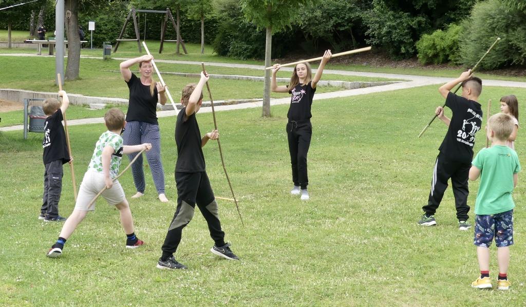 Stiftland Aikido im städtischen Ferienprogramm in Eschenbach